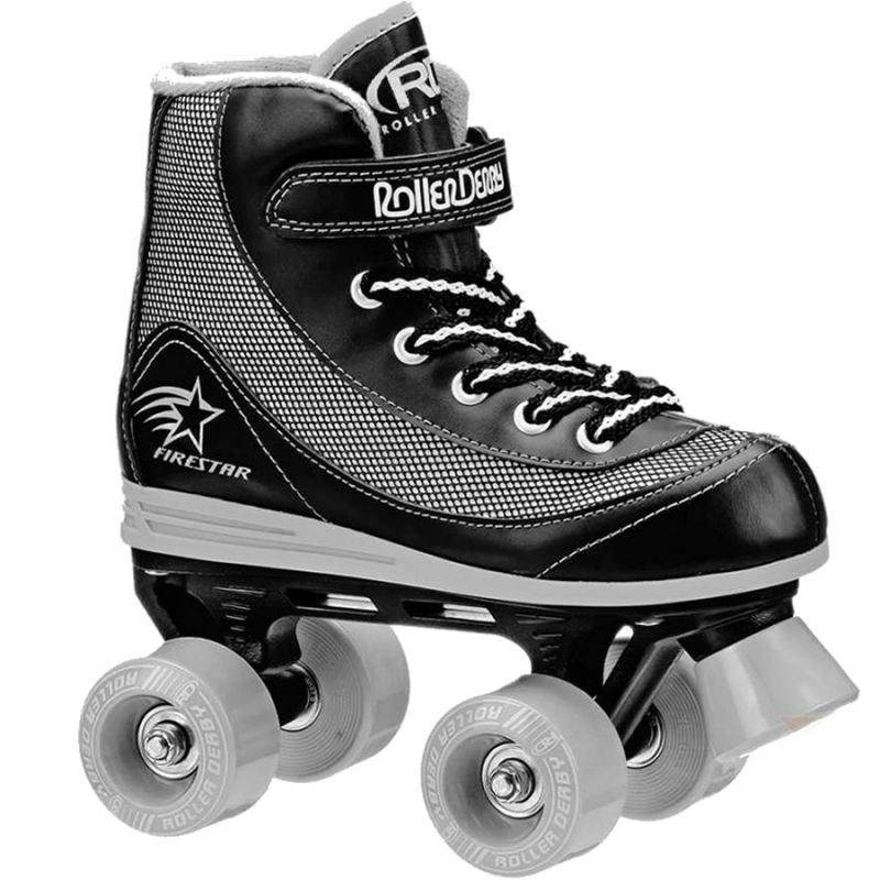RD Firestar Black Grey V2 Quad Roller Skates