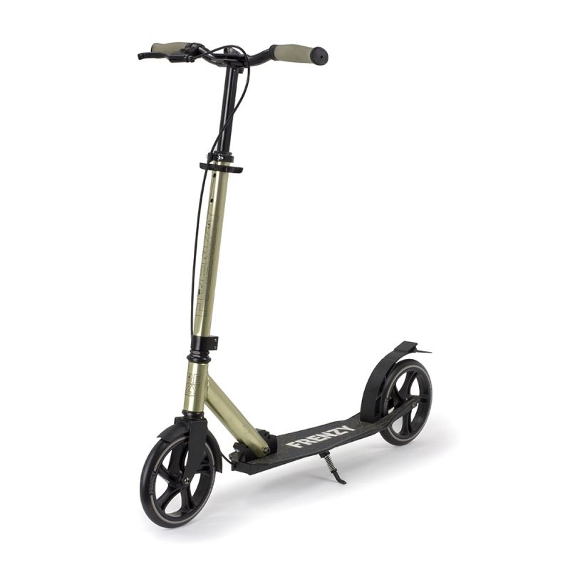 B-STOCK Frenzy 205mm Dual Brake Plus Champagne Folding Commuter Scooter