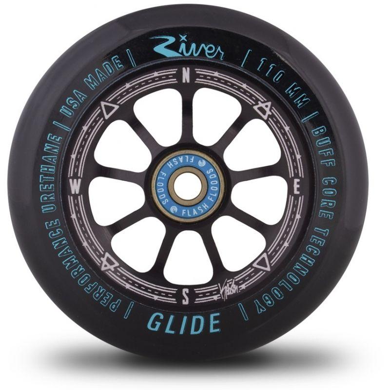 River Glide Kevin Austin Signature 110mm Scooter Wheel - Black / Black