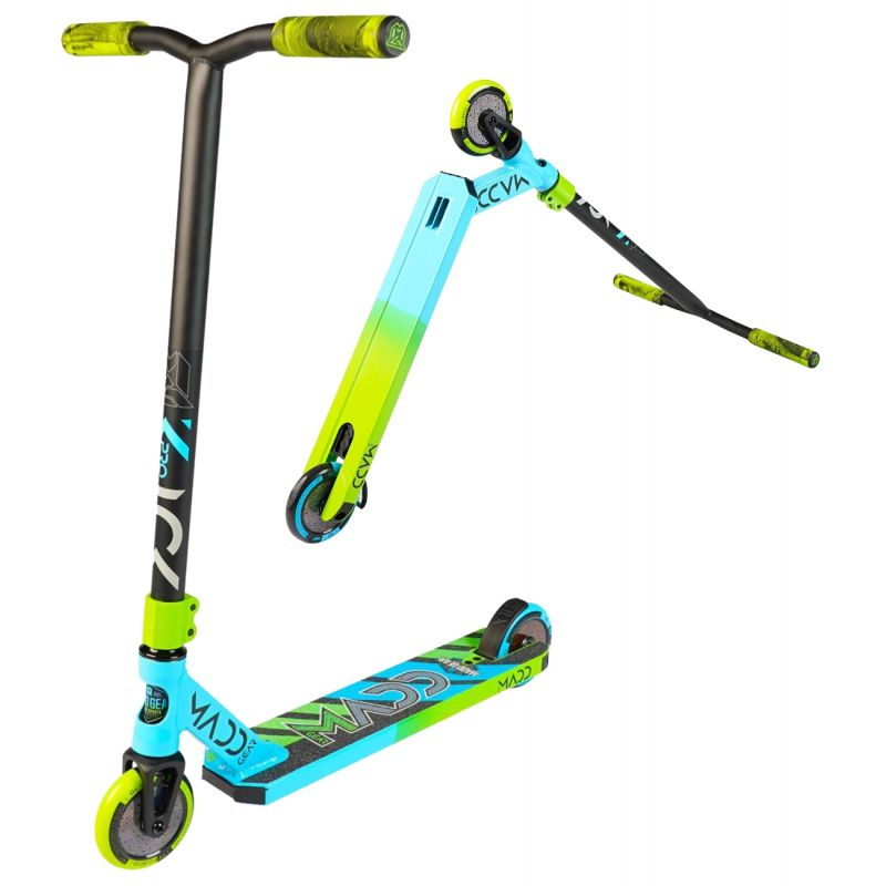B-STOCK Madd Gear MGP Kick Pro V5 Scooter - Blue / Lime