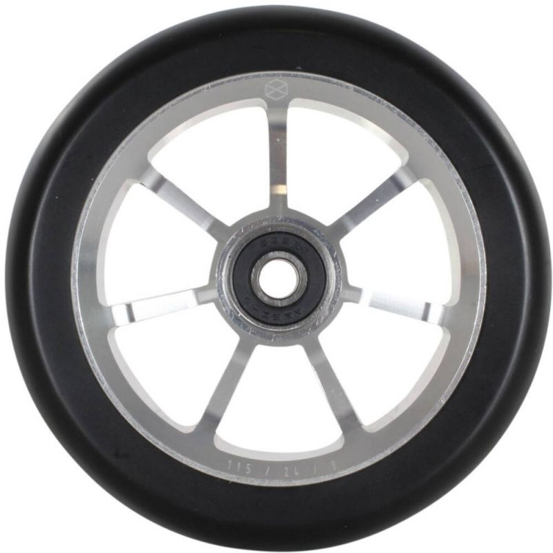Native Stem 115mm Scooter Wheel - Raw Silver