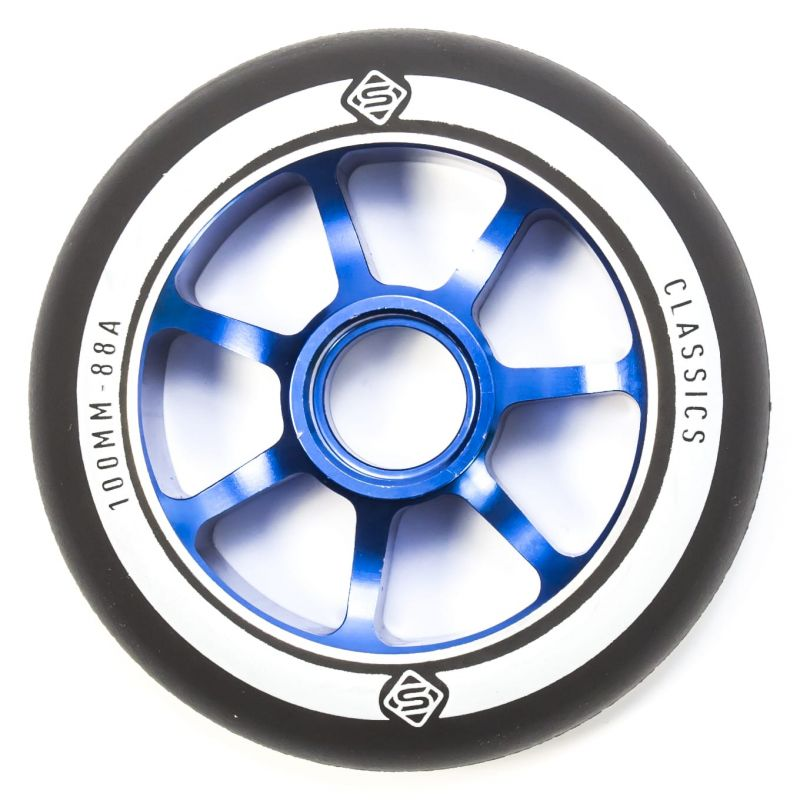 Skates Classic 100mm Scooter Wheel - Blue