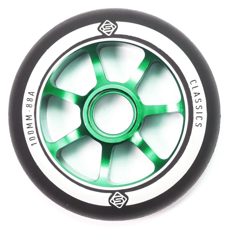 Skates Classic 100mm Scooter Wheel - Green