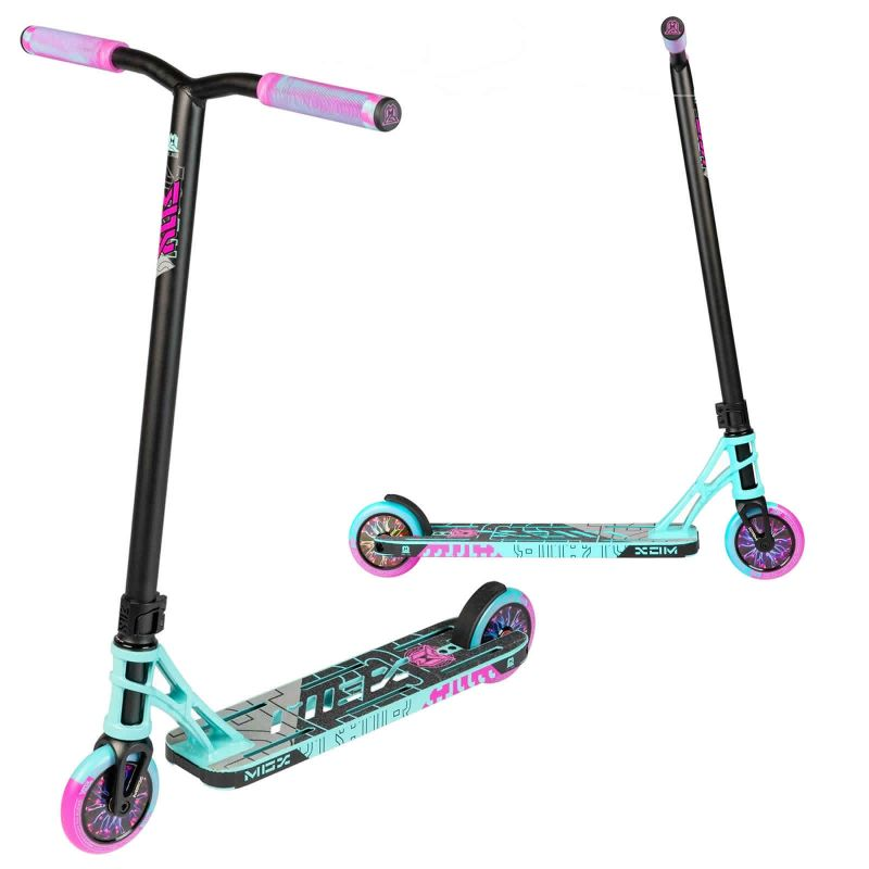 Madd Gear MGP MGX P1 Pro Stunt Scooter - Teal / Pink
