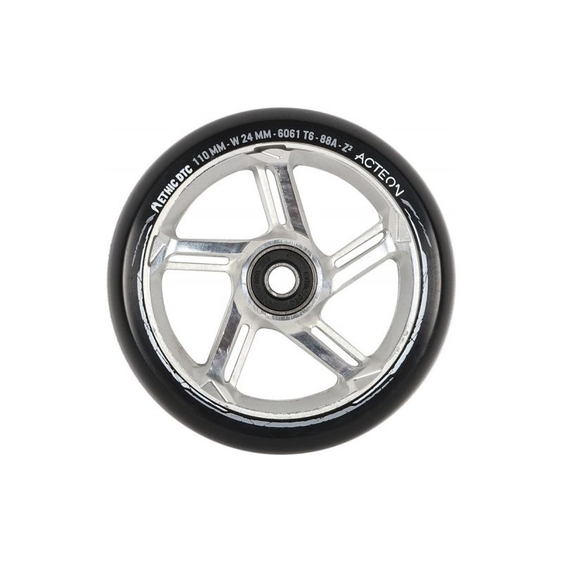 Ethic DTC Acteon 110mm Scooter Wheel – Raw Silver Chrome