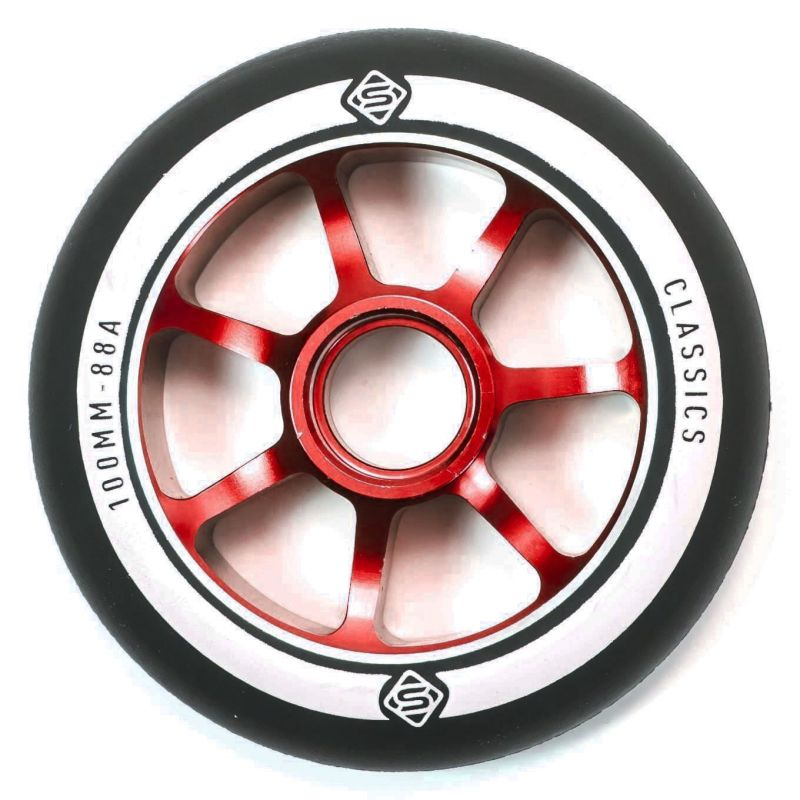 Skates Classic 100mm Scooter Wheel - Red