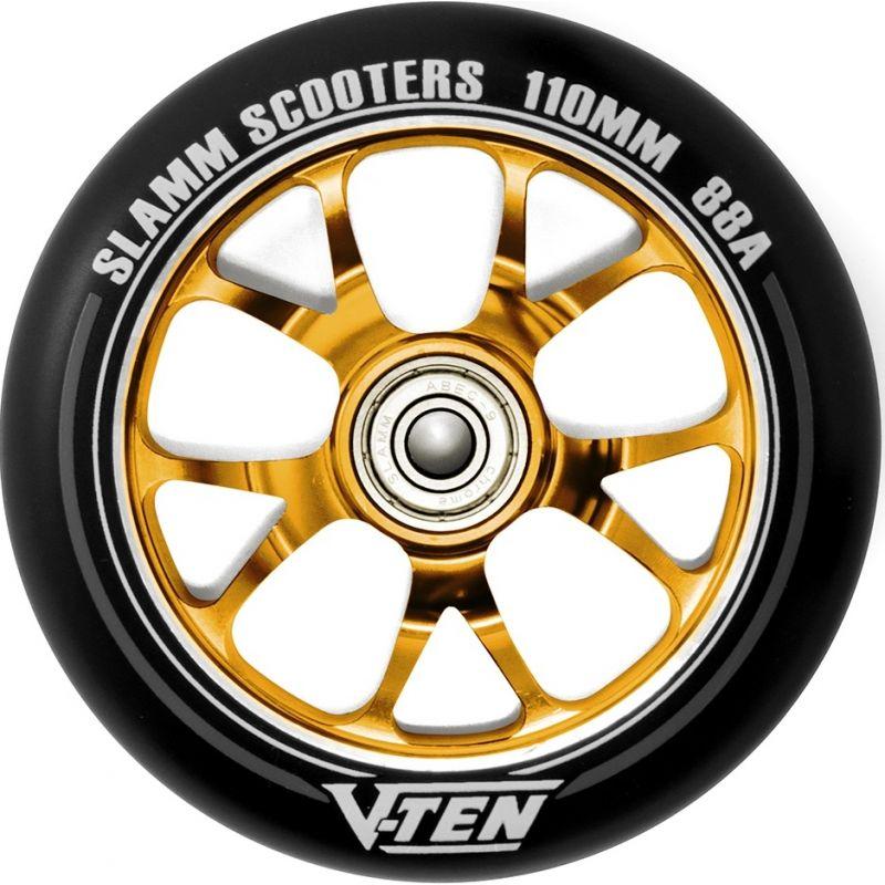Slamm V Ten II 110mm Scooter Wheel - Gold