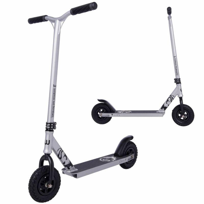 Longway Chimera Dirt Stunt Scooter-  Raw Silver Chrome