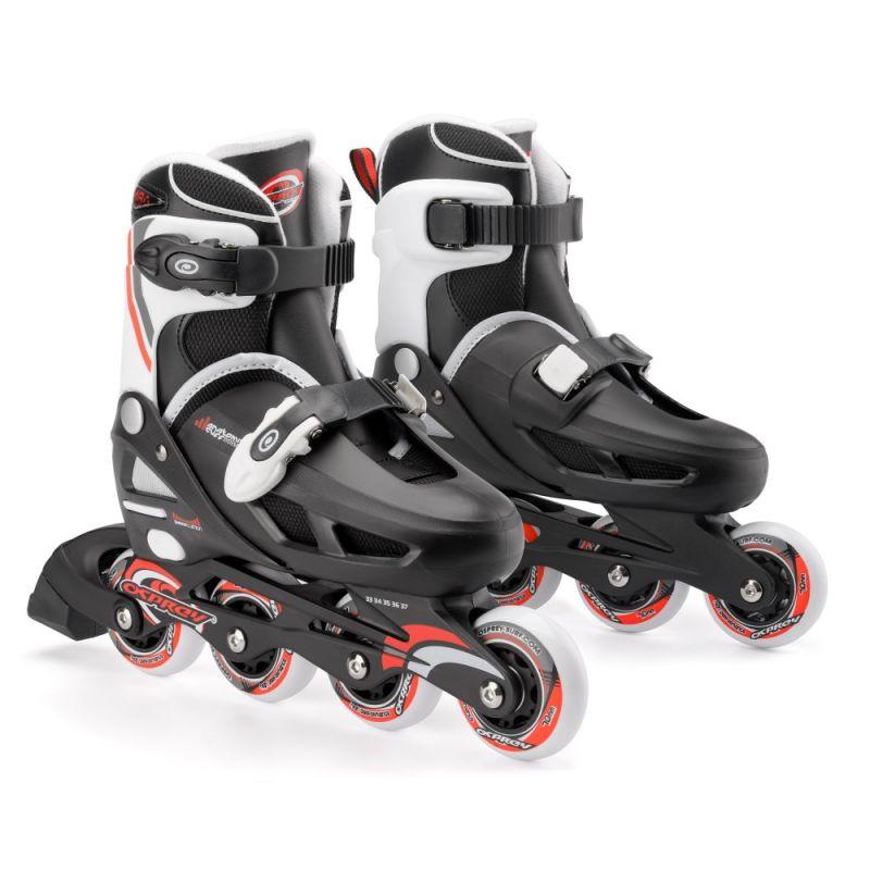 B-STOCK Osprey Adjustable Inline Skates - Black / Red UK12-2