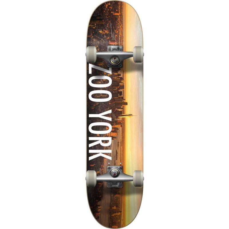 """Zoo York Logo Block Sunrise Complete Skateboard - 31""""  x 7.5"""""""
