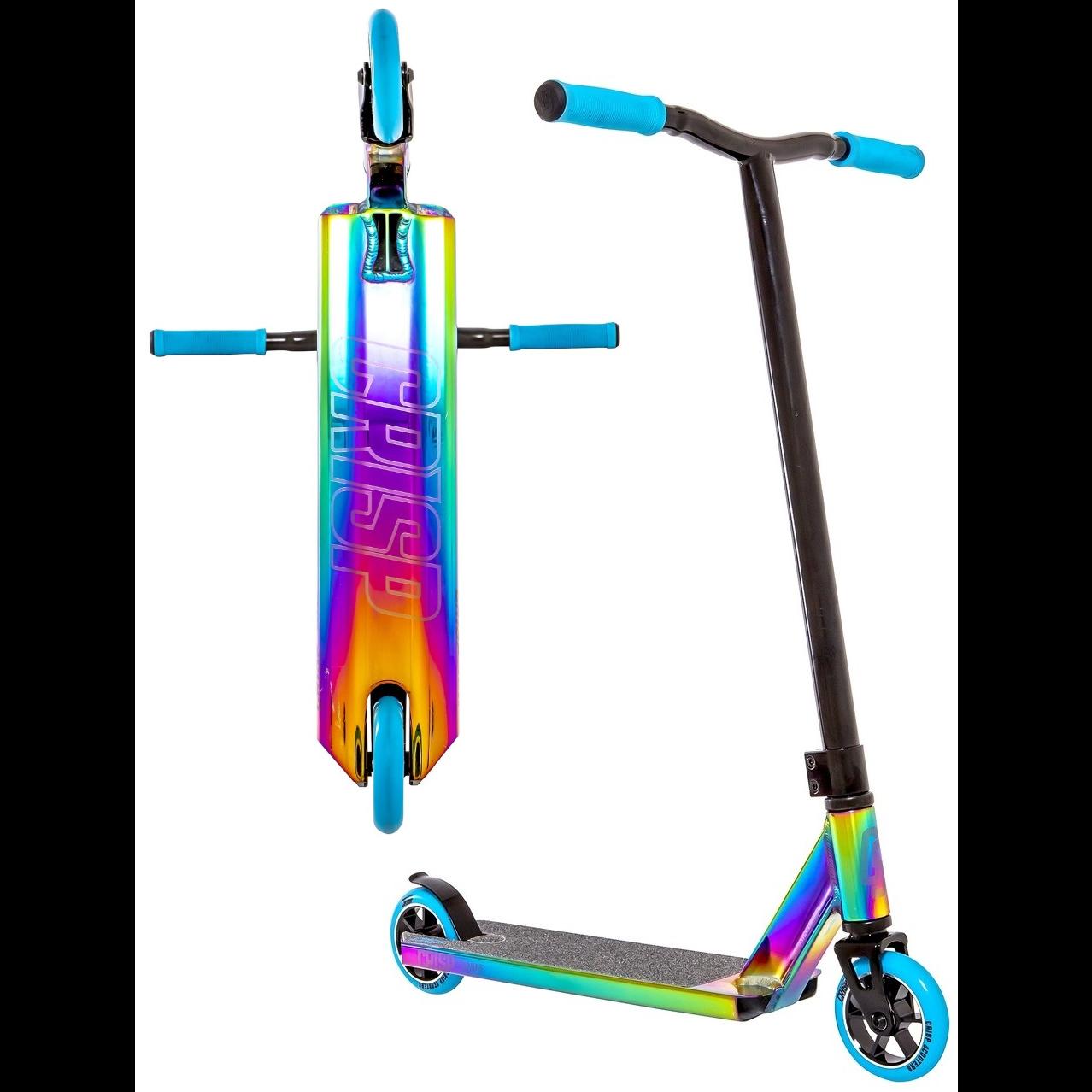 Crisp Surge 20 Complete Stunt Scooter   Neochrome Oil Slick / Blue