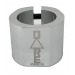 Dare Warlord Standard Double Scooter Clamp - Chrome Silver