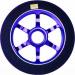 Logic 6 Spoke 110mm Scooter Wheel - Black / Blue