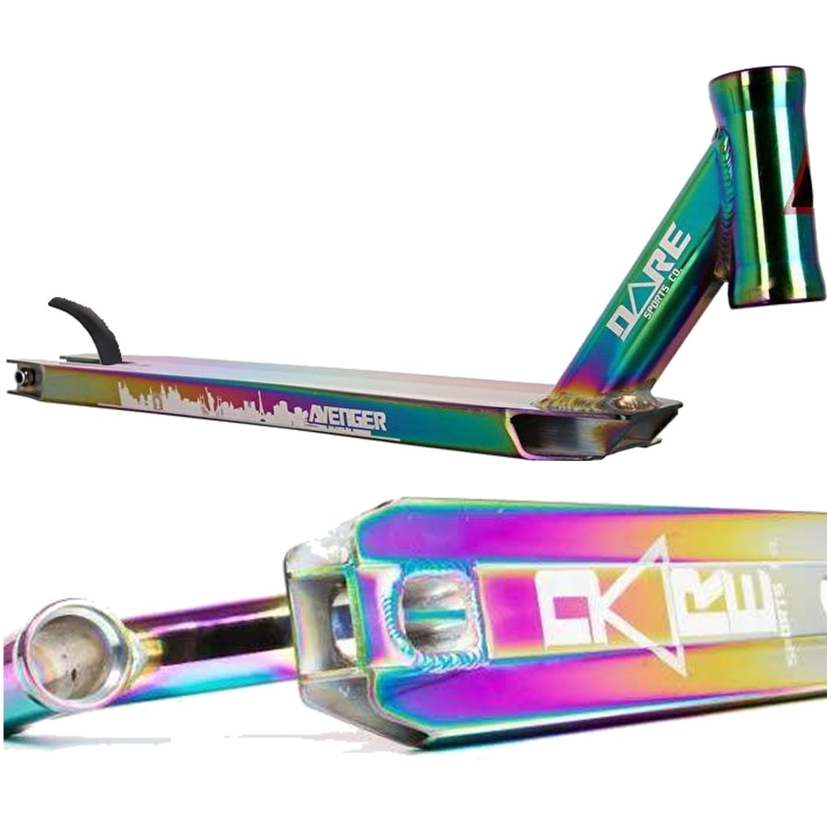 """An image of Dare Avenger Stunt Scooter Deck - Neochrome - 21"""" x 4.5"""""""