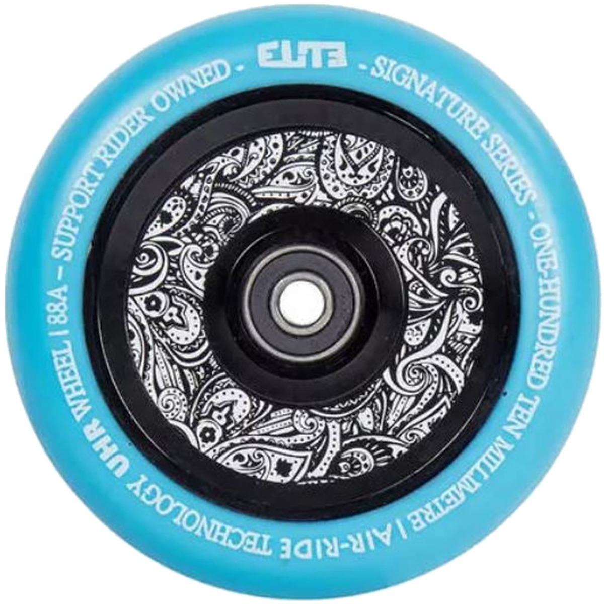 An image of Elite Air Ride 110mm Scooter Wheel - Blue Floral