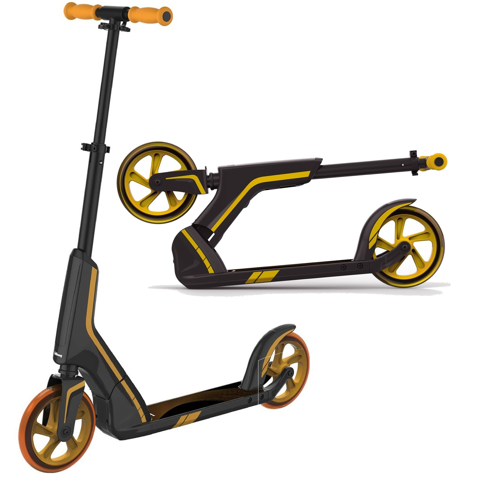 An image of JD Bug Pro Commute 185 Push Foldable Scooter - Black / Gold