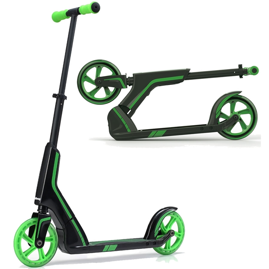 An image of JD Bug Pro Commute 185 Foldable Scooter - Black / Green