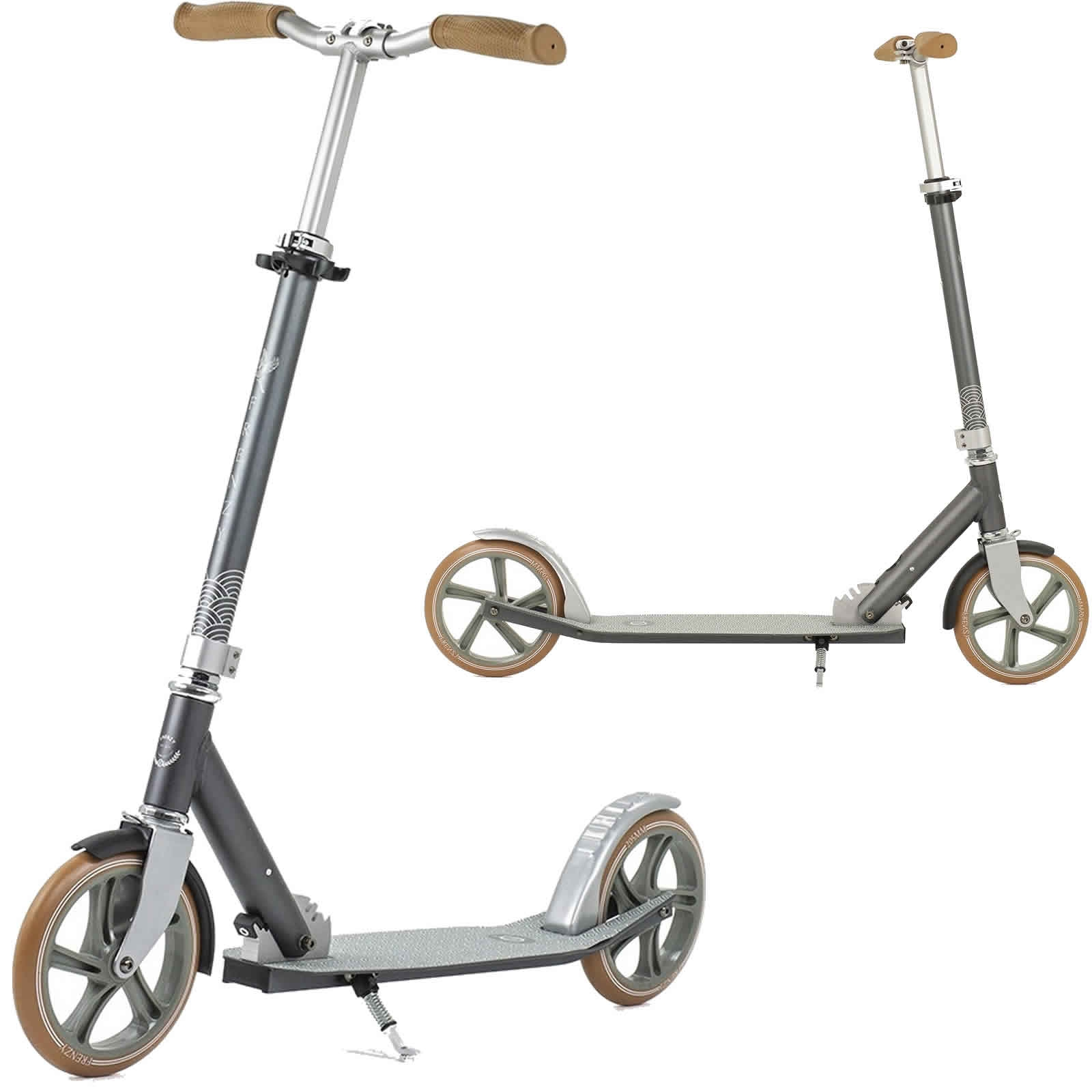 An image of Frenzy 205mm Kaimana Recreational Scooter - Grey