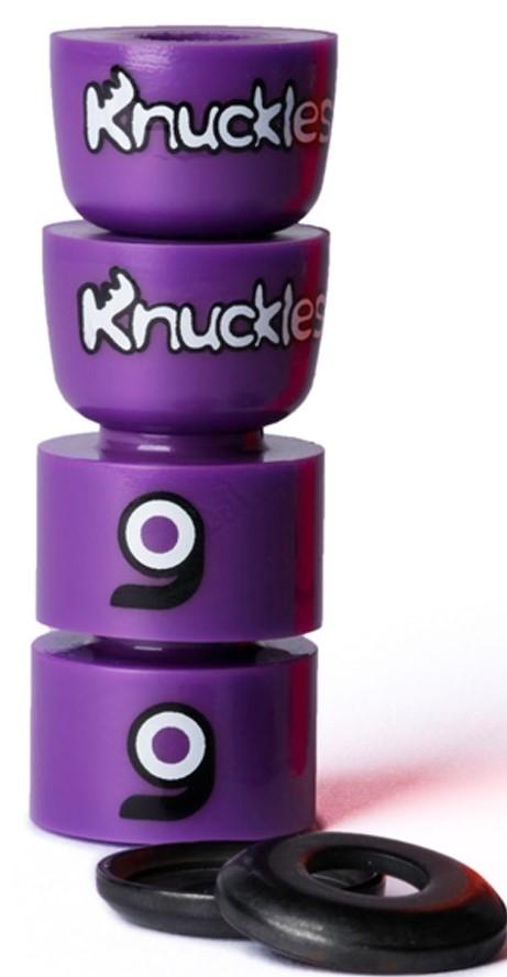 An image of Orangatang Knuckles Purple Longboard Bushings - Medium