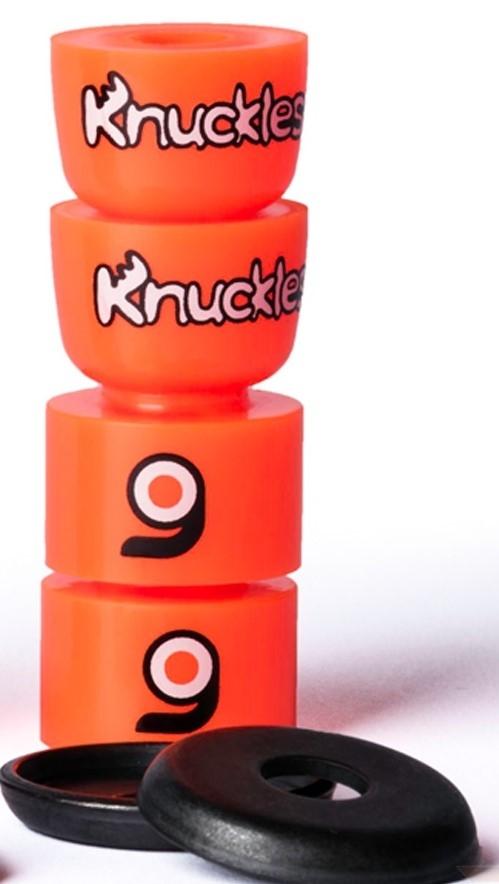 An image of Orangatang Knuckles Orange Longboard Bushings - Soft