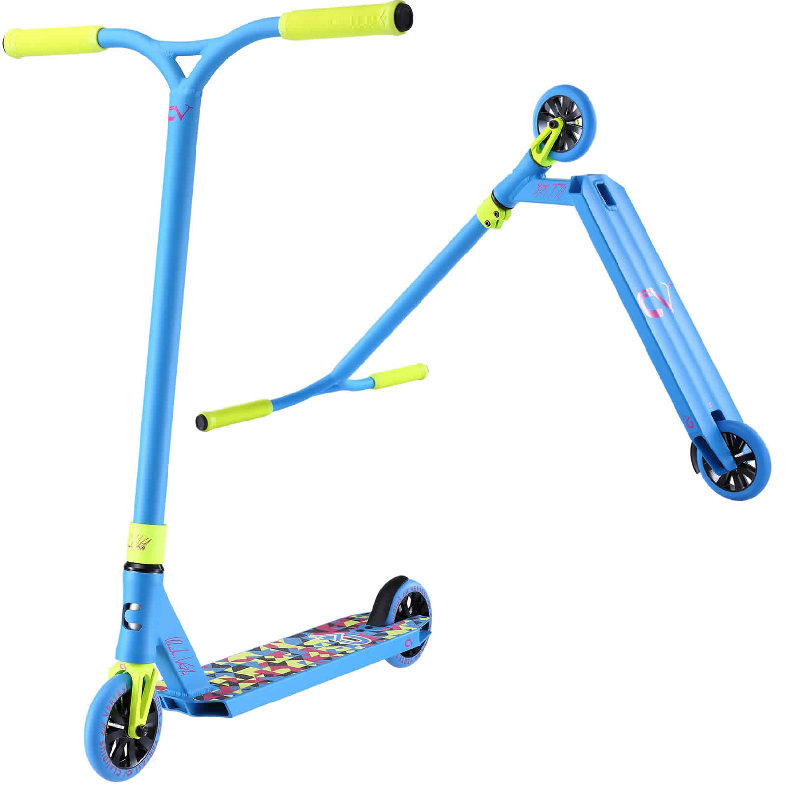 An image of Claudius Vertesi Signature Stunt Scooter - Caribbean Blue