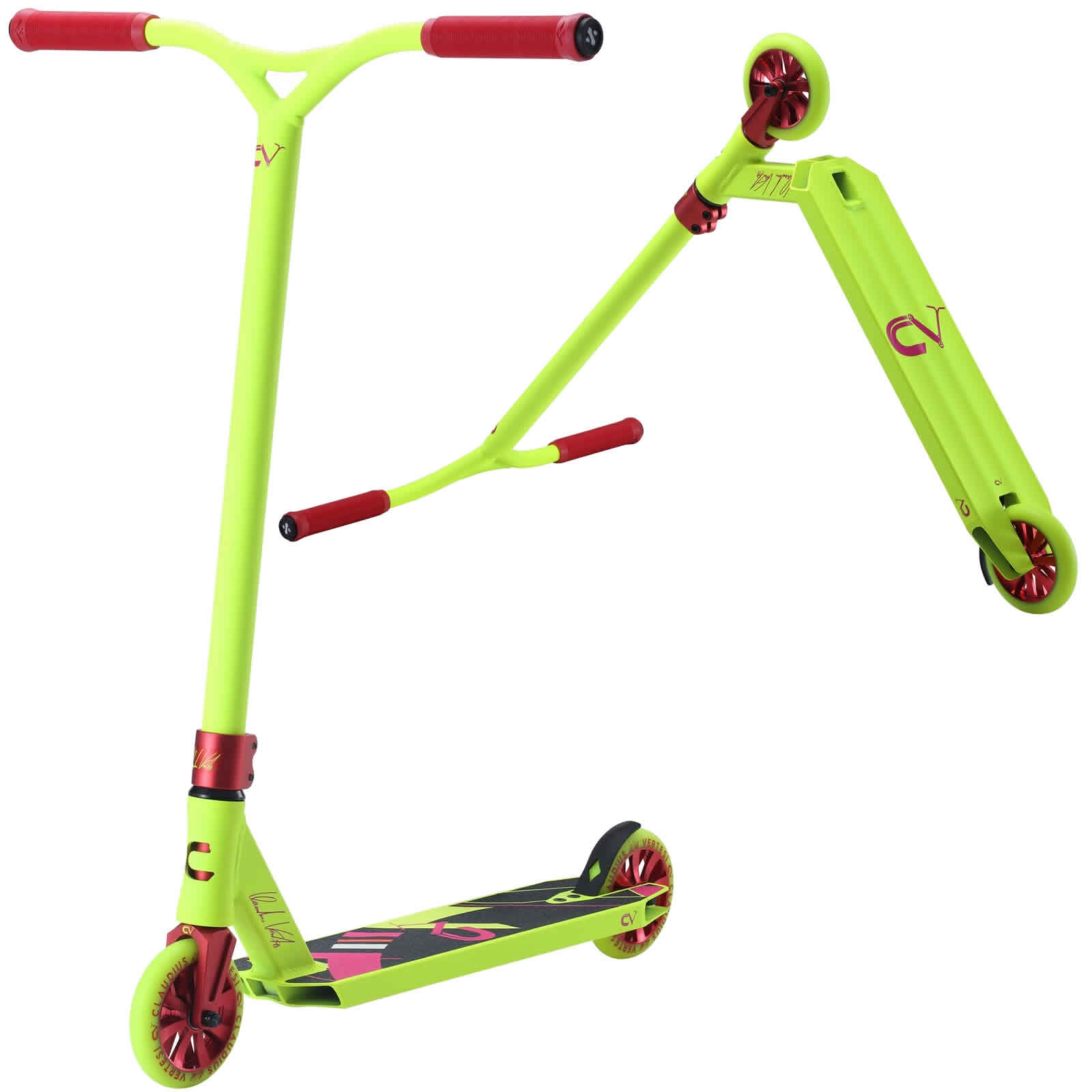 An image of Claudius Vertesi Signature Stunt Scooter - Neon Yellow