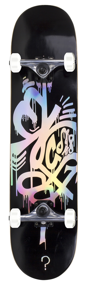An image of Enuff Hologram Complete Skateboard - Black