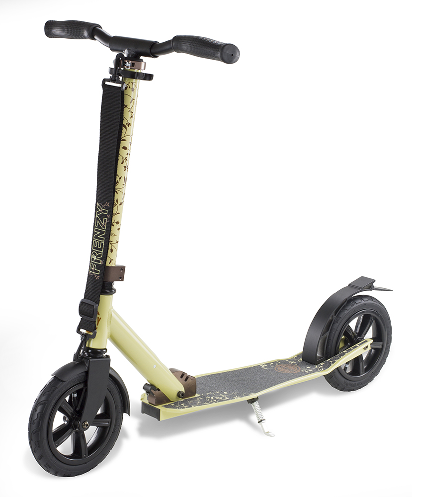 An image of Frenzy 205mm Pneumatic Folding Scooter - Cream