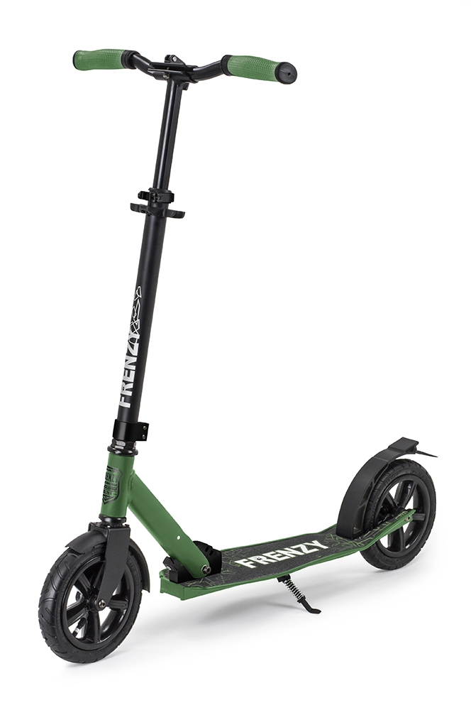An image of Frenzy 205mm Pneumatic Plus Folding Commuter Scooter – Military Green