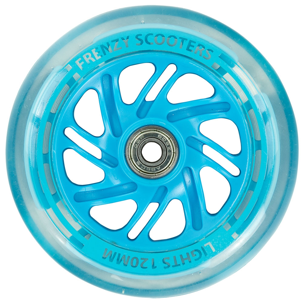 An image of Frenzy 120mm Light Up Scooter Wheel (2-Pack) - Blue