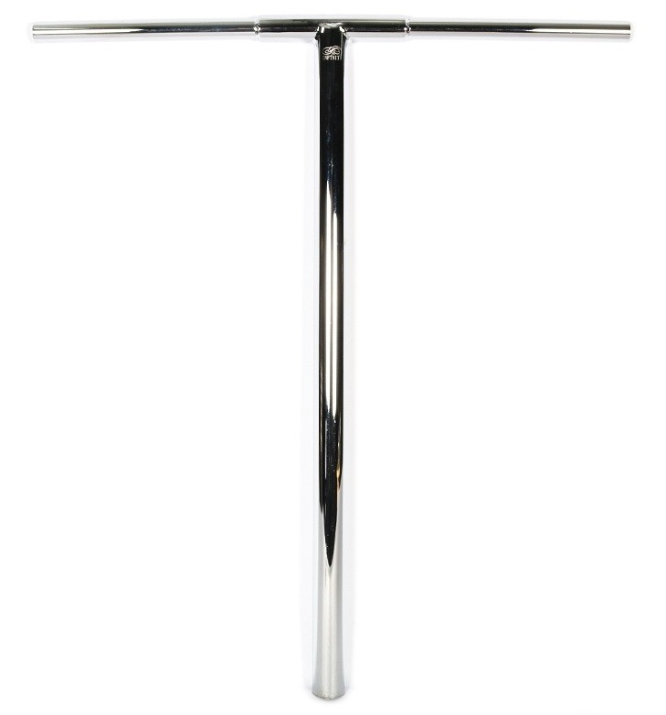 An image of Infinity Apocalypse SCS/HIC Scooter Bar - 710mm x 610mm - Polished Silver Chrome