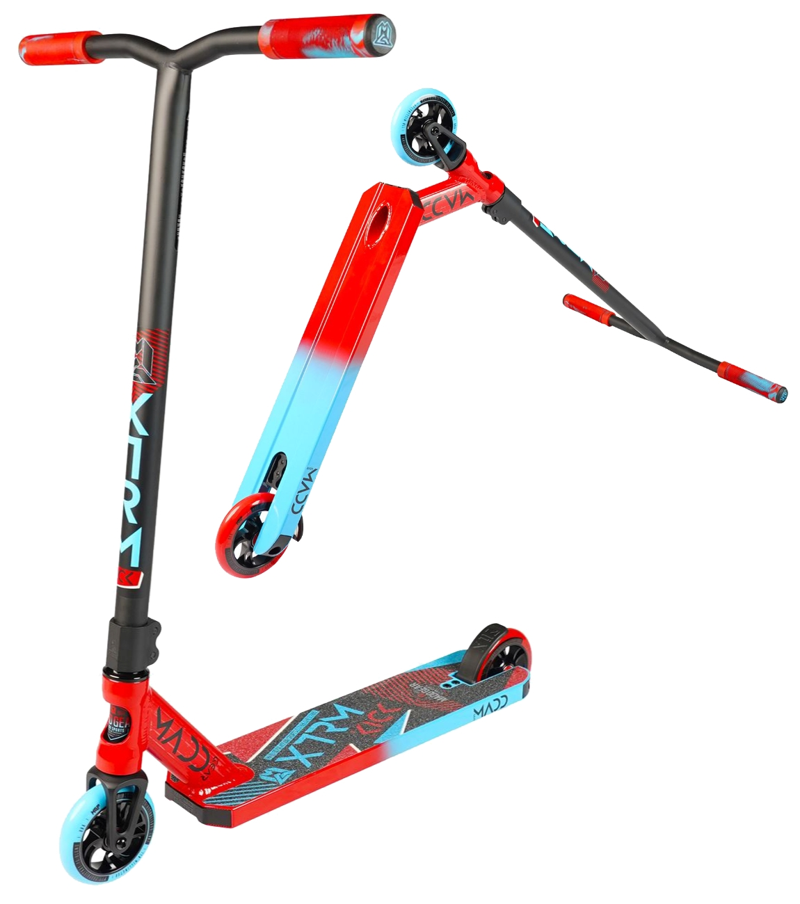 An image of Madd Gear MGP Kick Extreme V5 Scooter - Red / Blue