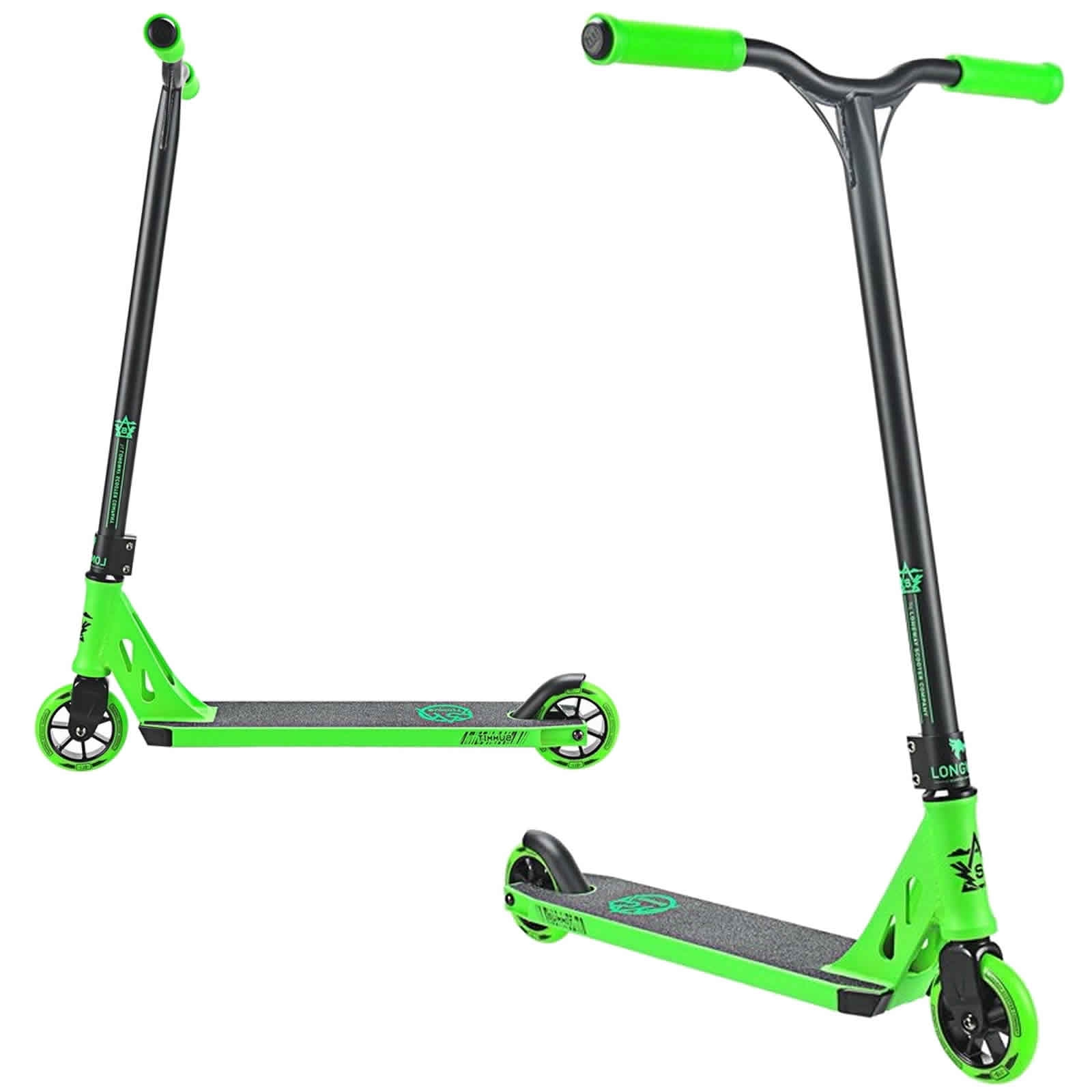 An image of Longway Summit 2K19 Complete Stunt Scooter - Black / Green