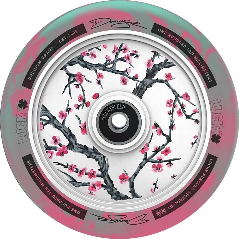 An image of Lucky Lunar Darcy Cherry Evans Signature 110mm Scooter Wheel
