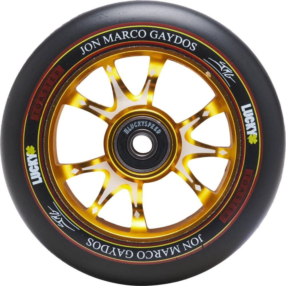 An image of Lucky Jon Marco Gaydos JMG V3 Signature 110mm Scooter Wheel