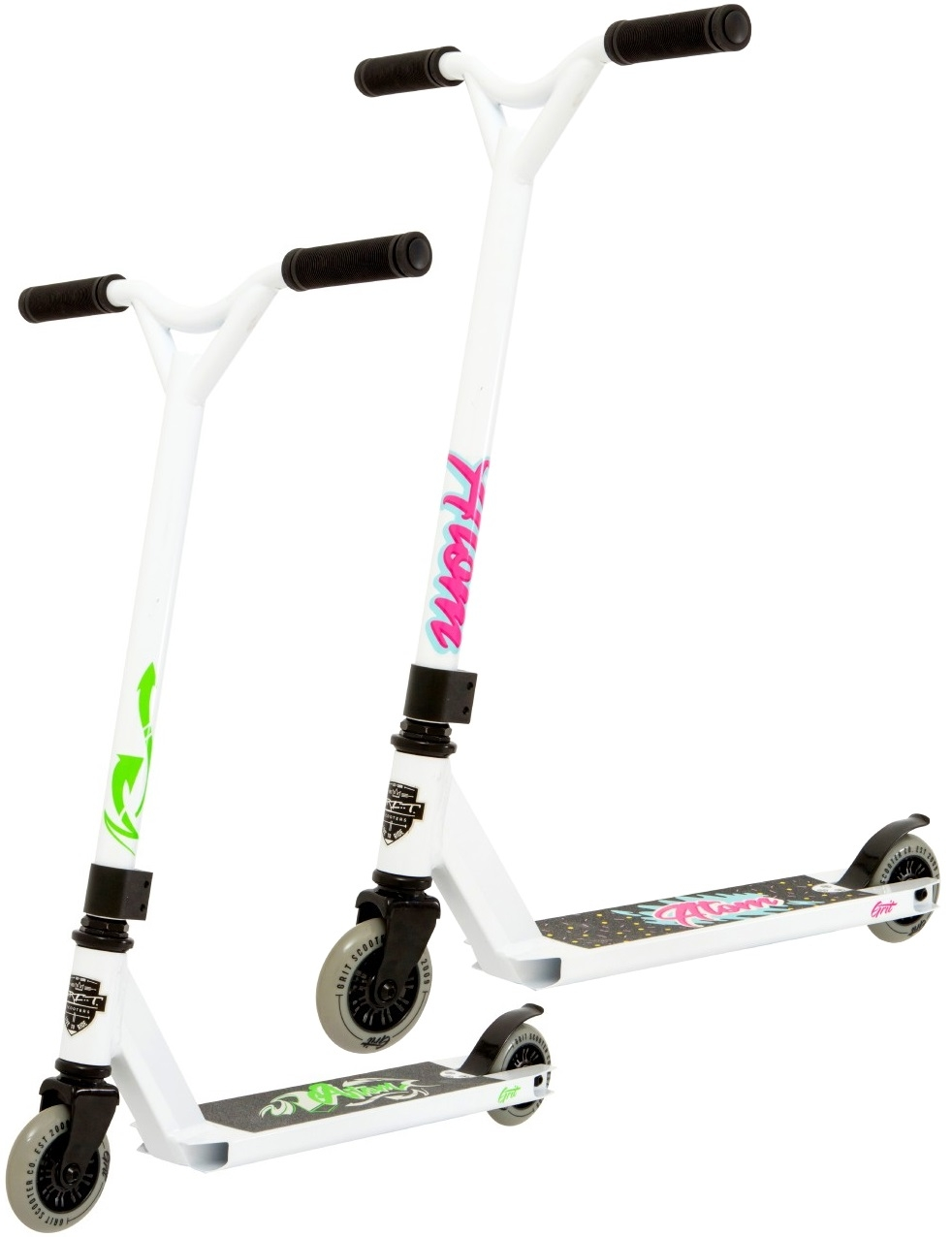 An image of Grit Atom 2019 White Complete Pro Stunt Scooter - B STOCK