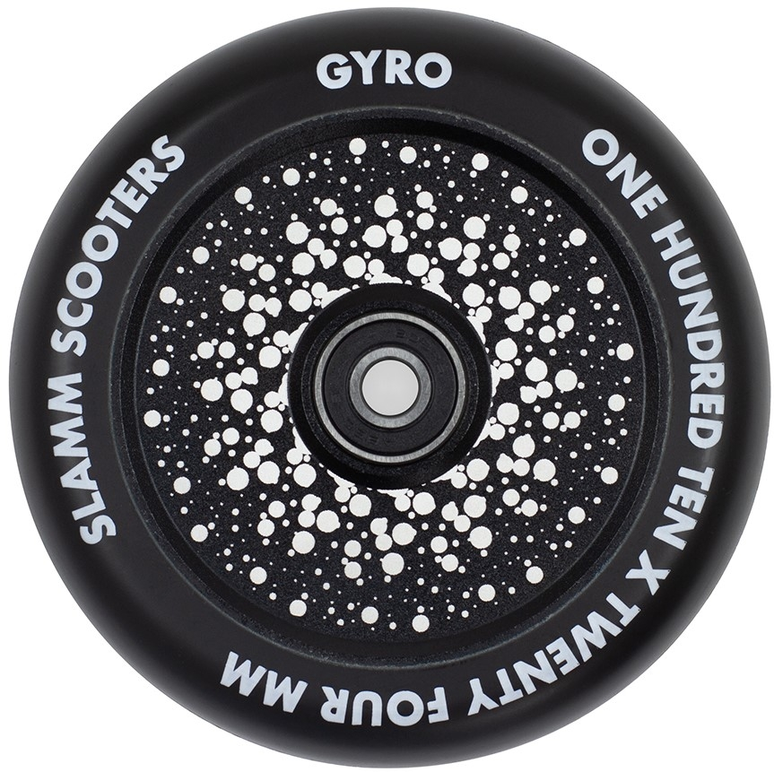 An image of Slamm Gyro 110mm Scooter Wheel - Black