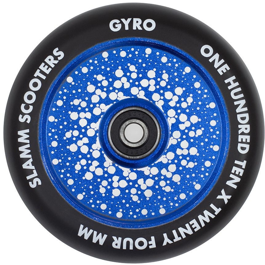 An image of Slamm Gyro 110mm Scooter Wheel - Blue
