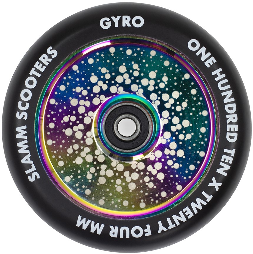 An image of Slamm Gyro 110mm Scooter Wheel - Neochrome