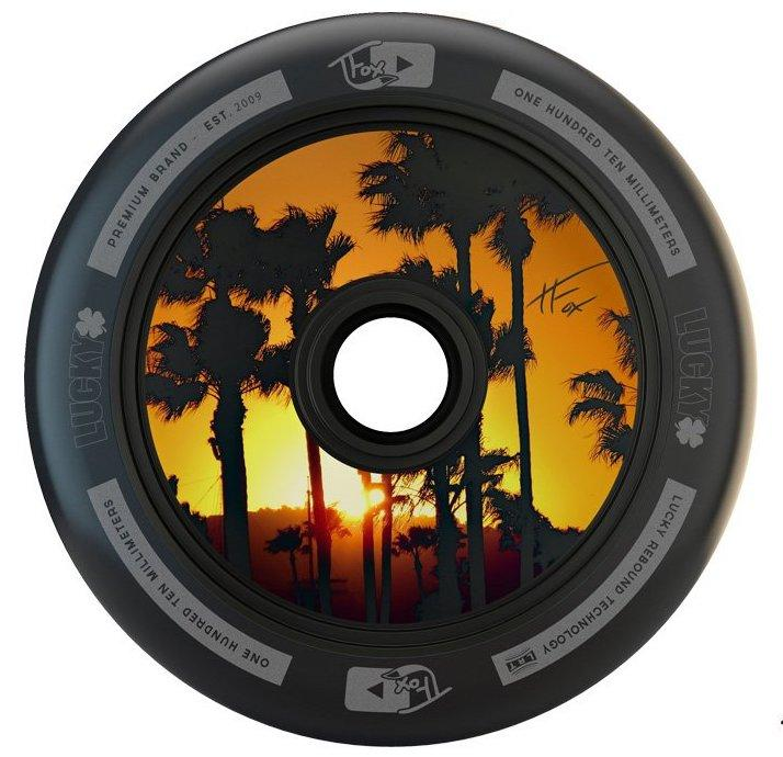 An image of Lucky Tanner Fox Tfox Signature 110mm Black Scooter Wheel