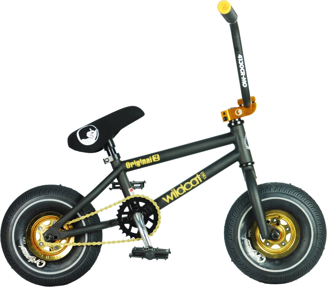 An image of Wildcat Black Hawk Original 2A Mini BMX Bike - Black