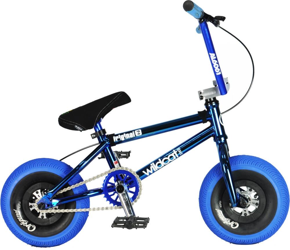 An image of Wildcat Joker Original 2C Mini BMX Bike - Blue