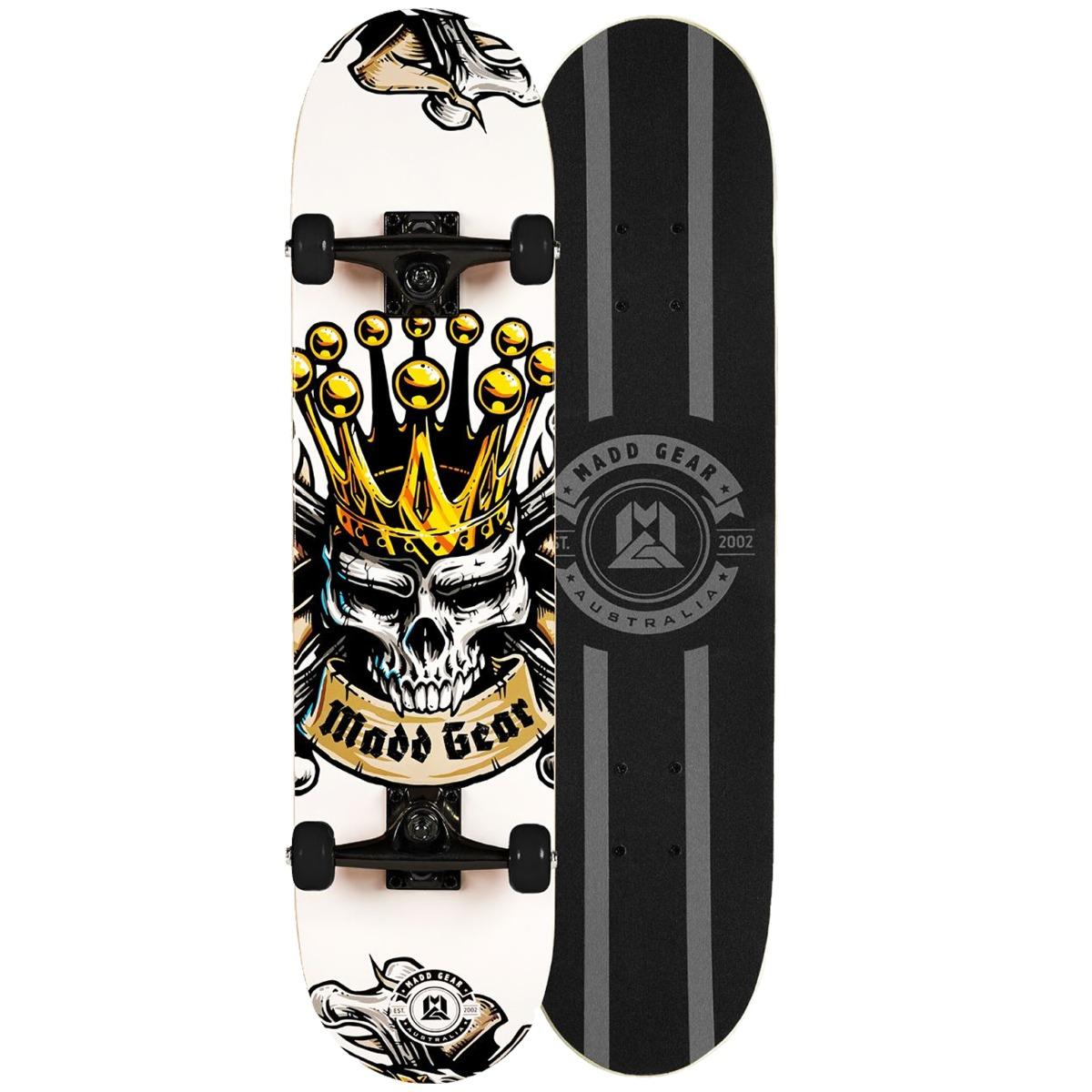 "An image of Madd Gear MGP Pro Series Kingdom Black White Skateboard – 31"" x 8"" - LIMIT..."