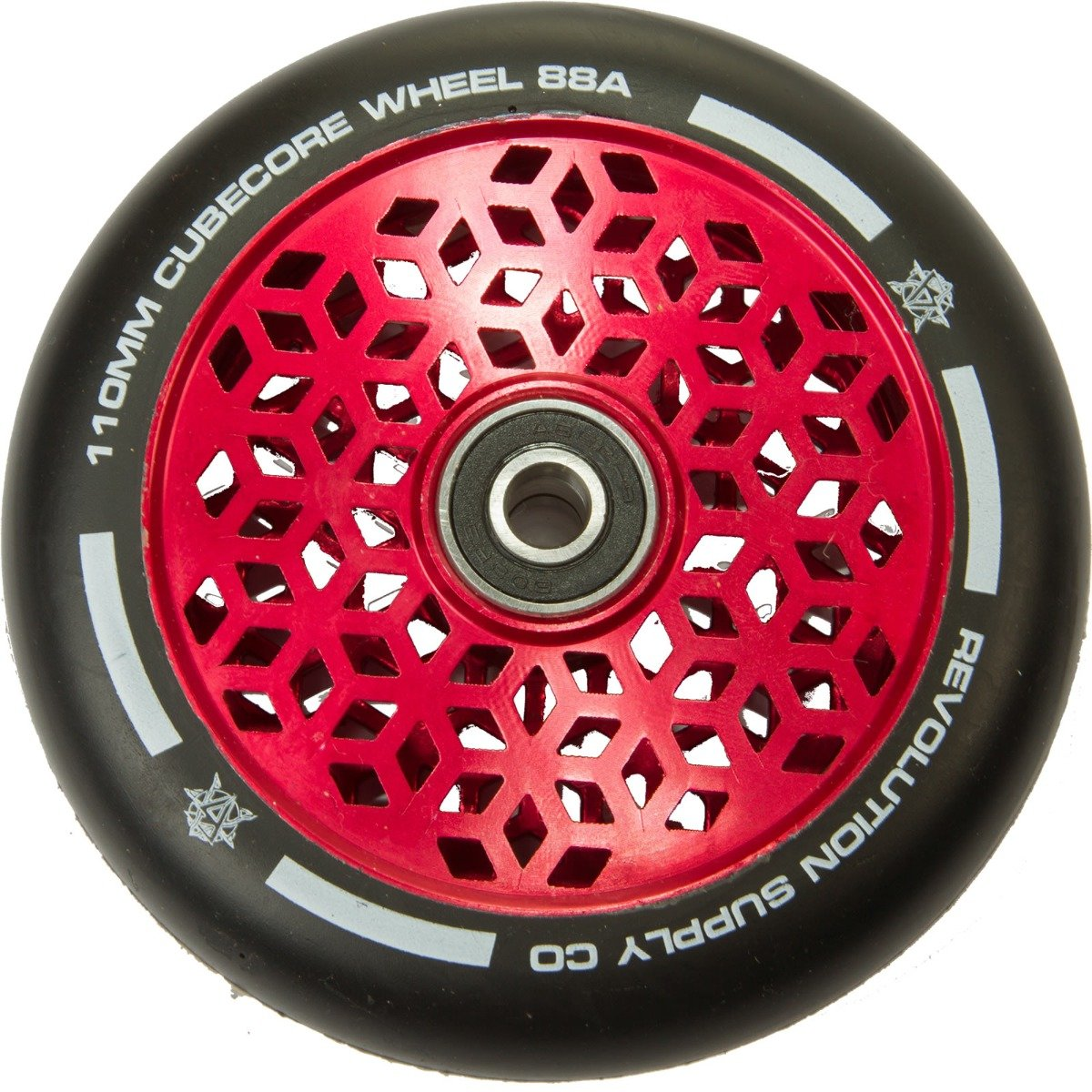 An image of Revolution Supply Cubed Core Ultralite 110mm Scooter Wheel - Red